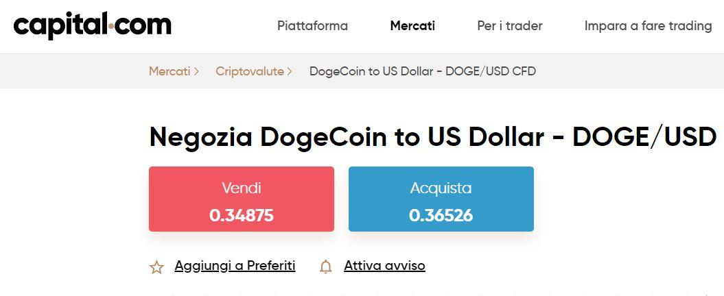 comprare dogecoin su capital