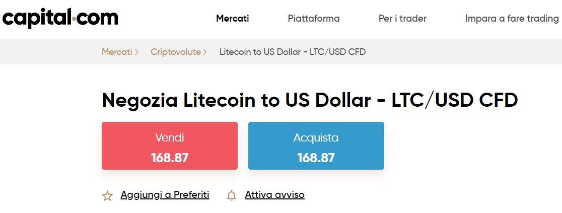 comprare litecoin con capital