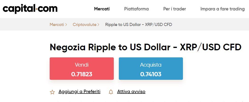 comprare ripple su capital