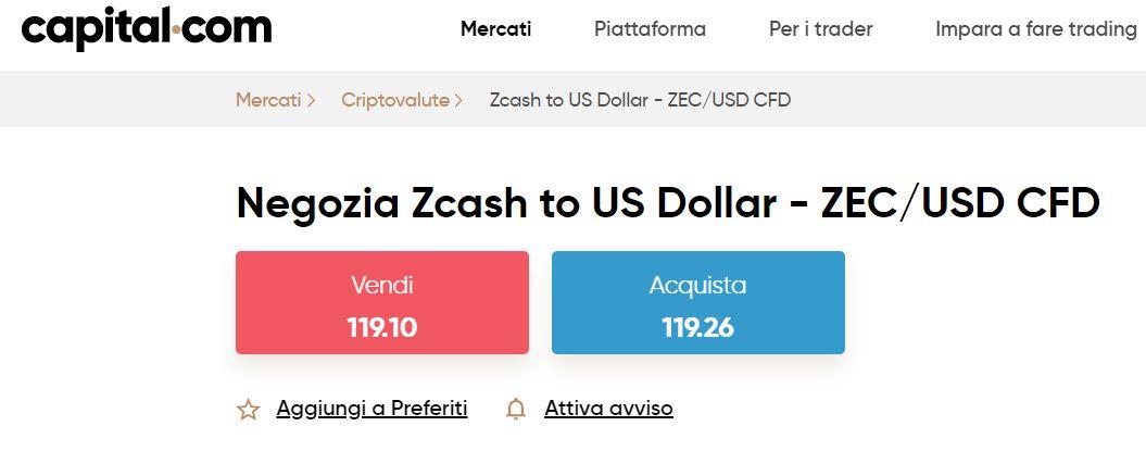 comprare zcash con capital